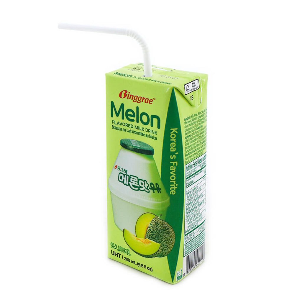 Binggrae Melon Flavored Milk Drink 6.8fl.oz (200ml), 6 Packs