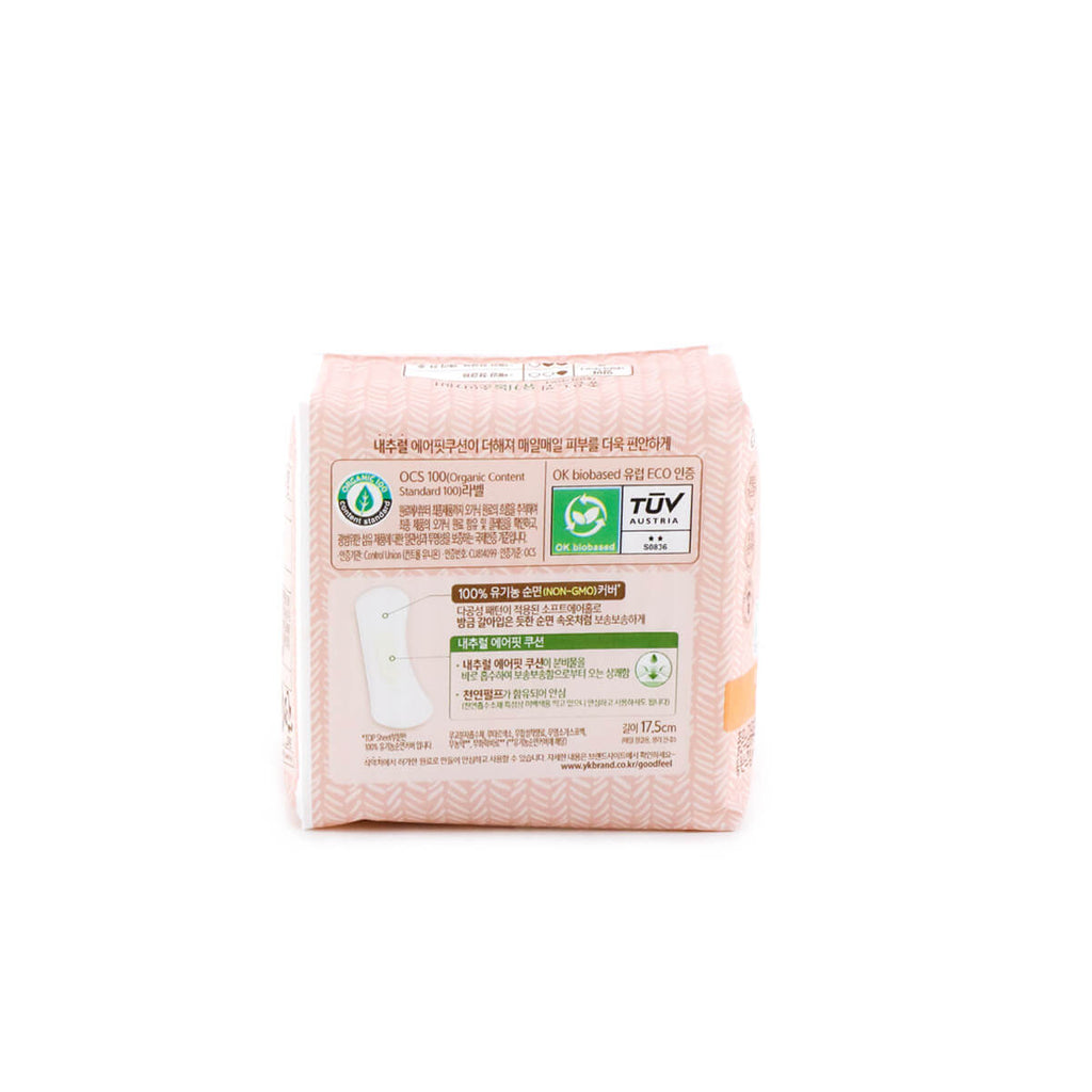YUHAN-KIMBERLY  Goodfeel Unscented Sanitary Pad Organic Liner/Long 18pcs