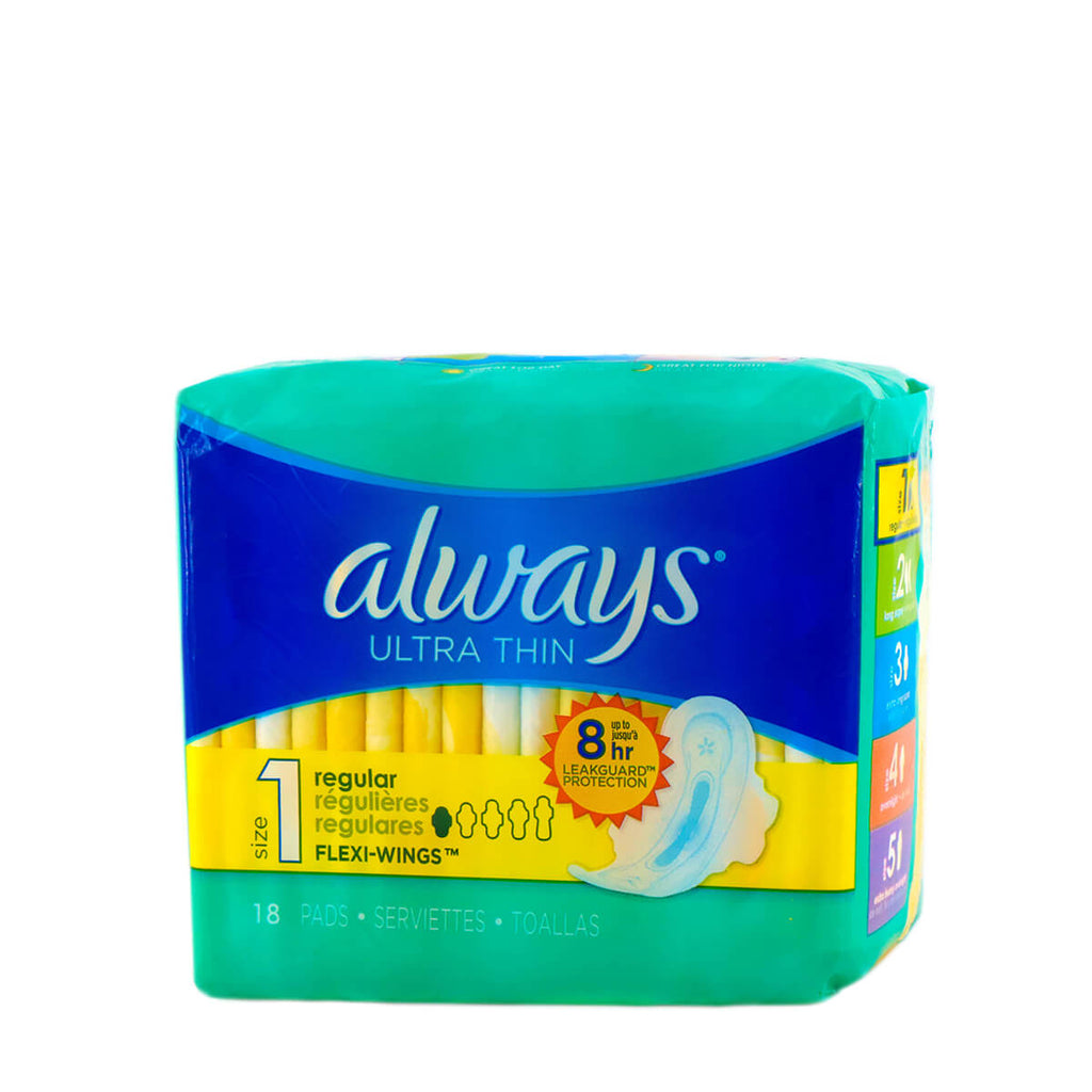 ALWAYS Ultra Thin Regular 18 Pads Flexi-Wings (Size 1)