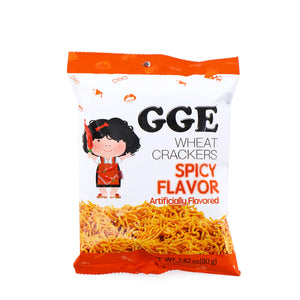 WEILIH GGE Wheat Crackers Hot Spicy Flavor 2.82oz (80g)