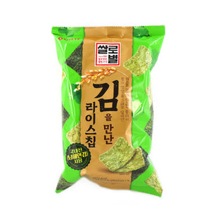 LOTTE Rice Chip Snack meets Laver 83g