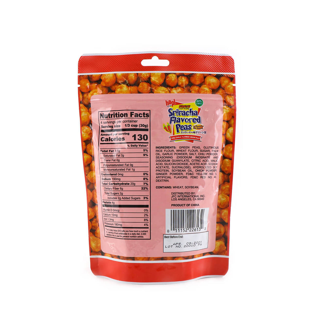 HAPI Spicy Sriracha Flavored Peas 4.23oz (120g)