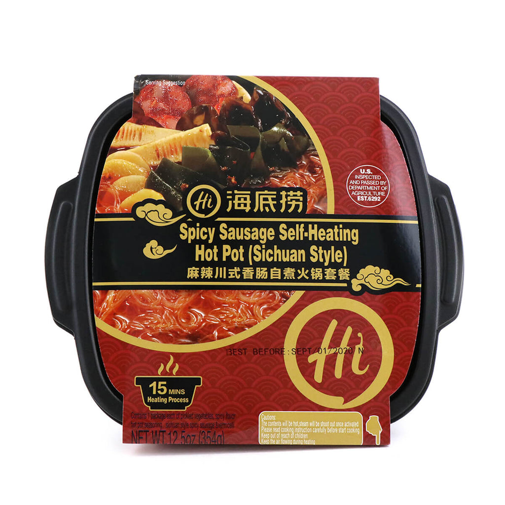 HaiDiLao Spicy Sausage Self-Heating Hot Pot Sichuan Style 12.5oz (354g)