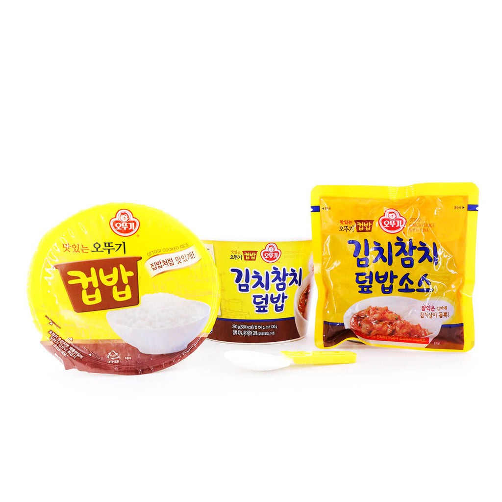 OTTOGI Cooked Rice and Kimchi Sauce with Tuna Bowl 280g