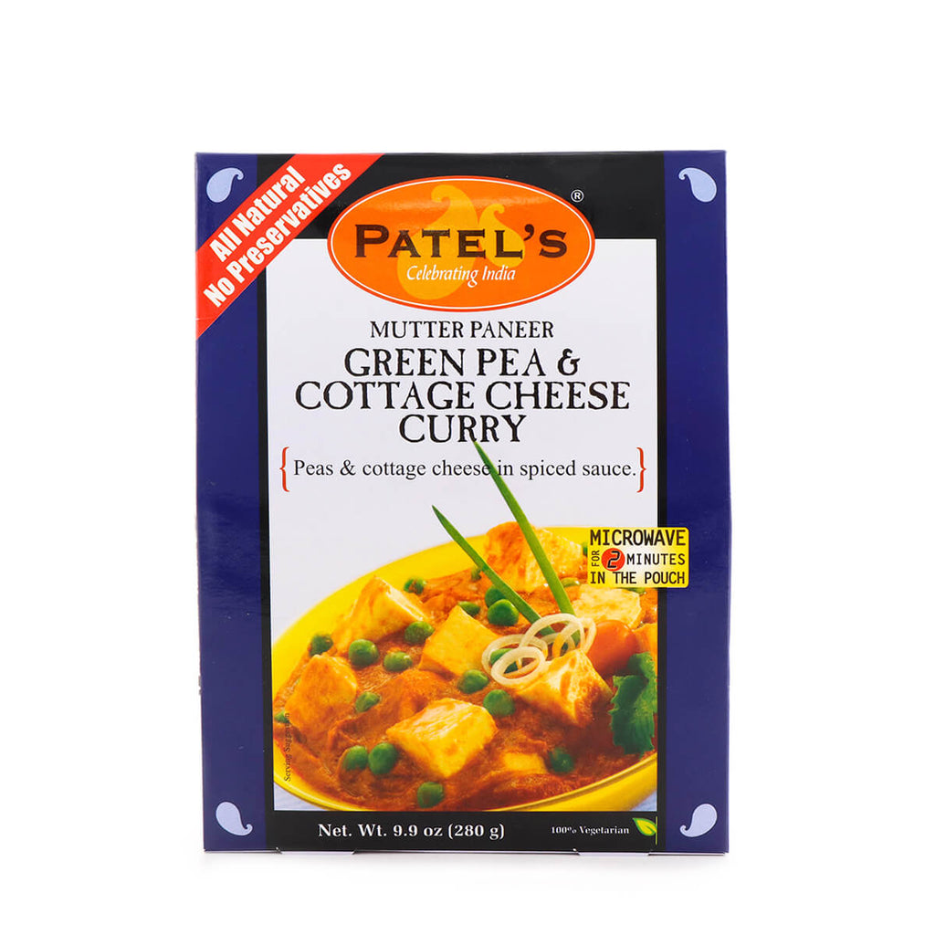 PATEL'S Green Pea & Cottage Cheese Curry 9.9oz (280g)