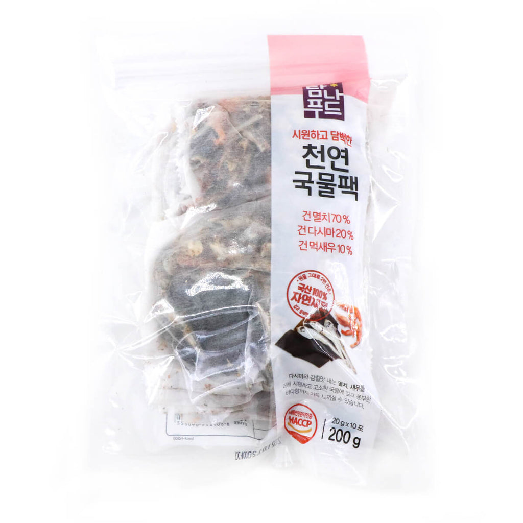 TAMNAFOOD Dried Seafood Pack (Anchovy 70%, Kelp 20%, Shrimp 10%), 20g x 10 Packs, 200g