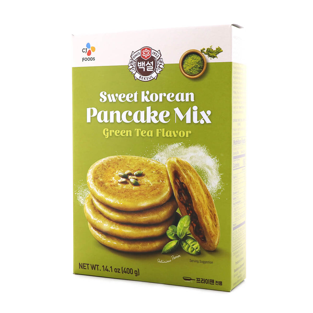 Beksul Sweet Korean Pancake Mix Green Tea Flavor 14.10oz (400g)