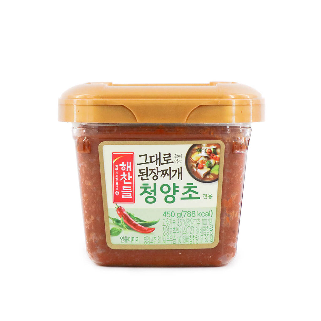HAECHANDLE Hot Pepper Flavor Soybean Paste for Stew 450g