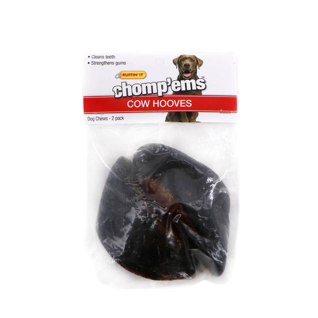 RUFFIN' IT CHOMP'EMS Cow hooves 2 Pack