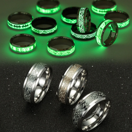 Glowing Luminous Stainless Steel Ring