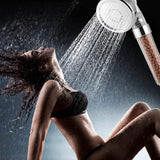 3-Mode Adjustable Pressure Shower Head with Ionic Filtration