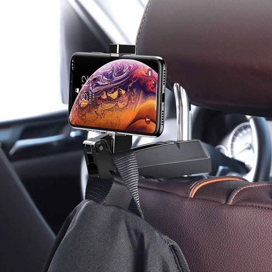 2 in 1 Car Phone Holder Hooks