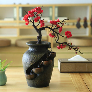 Feng Shui Waterfall Plant Vase