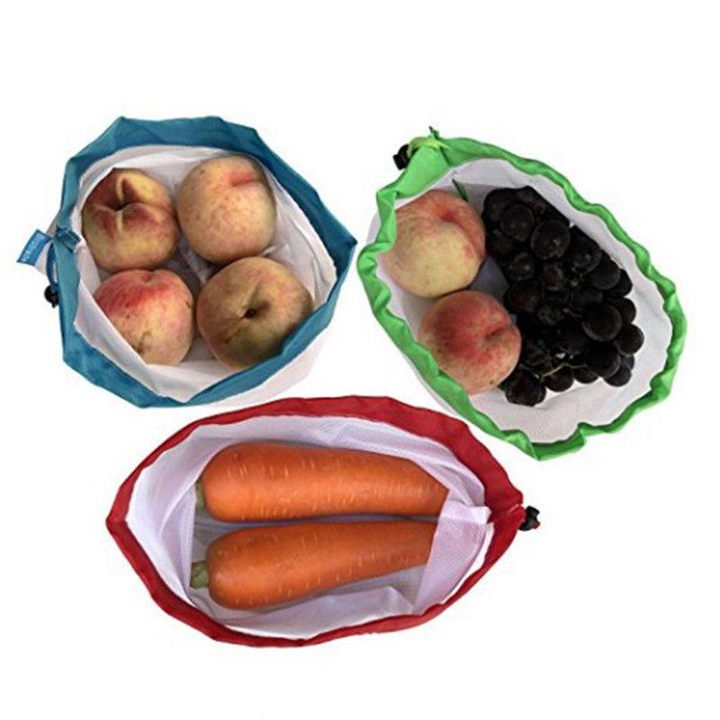 12pcs Washable Eco-Friendly Bags for Groceries