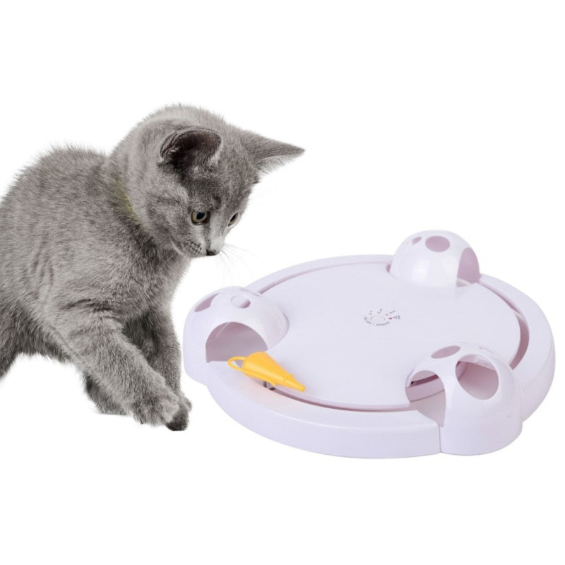 Automatic Rotating Cat Play Teaser Plate