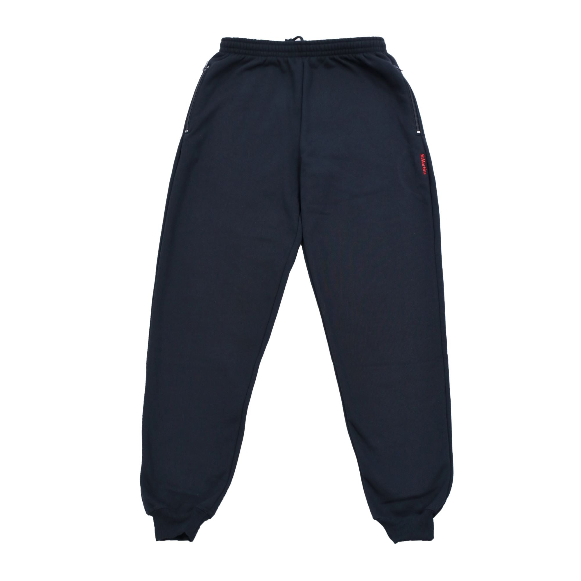 New Cuffed Navy Track Pants
