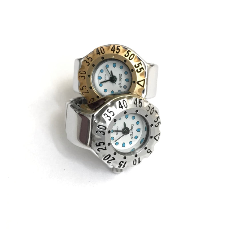 Stellar Silver Diver Ring Watches Gold Silver by DIGITS
