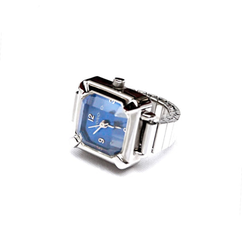 Sapphire Blue Emerald Ring Watch on Sale