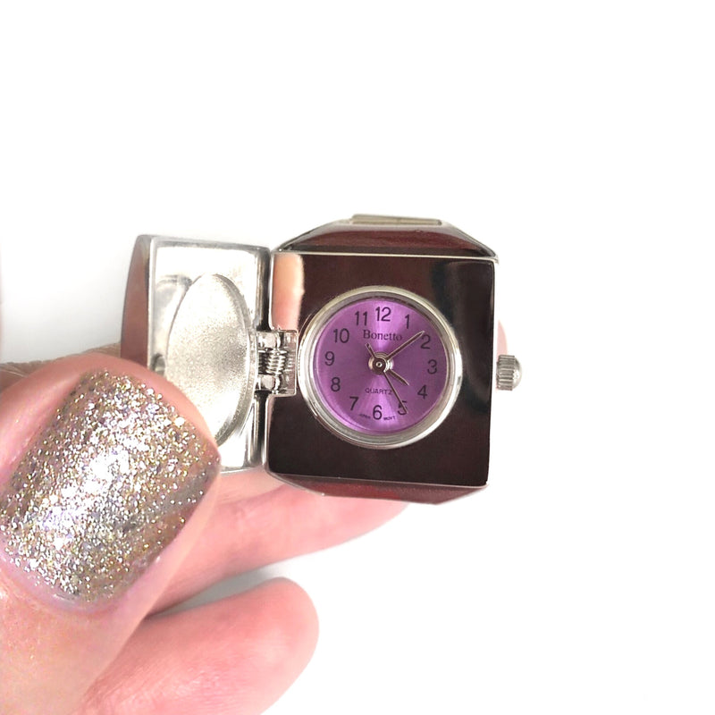 Rose Pave Cube Ring Watch Dial by Bonetto