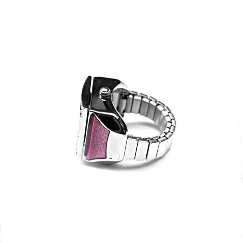 Rose Pave Cube Finger Ring Watch by Bonetto