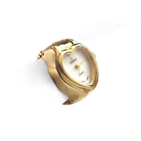 Stellar Heart Ring Watch in Gold