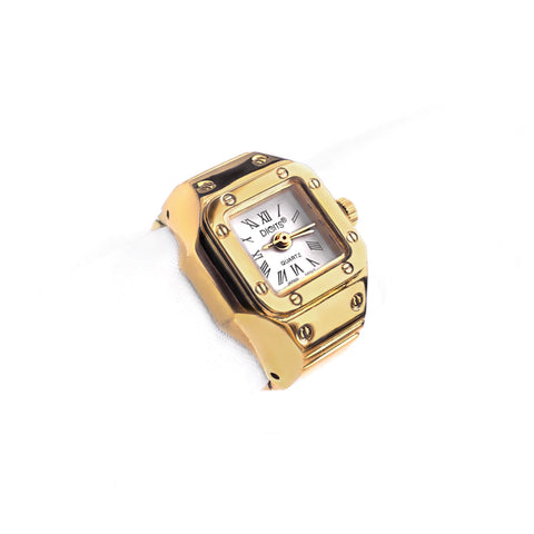 Stellar Radiance Ring Watch in Gold