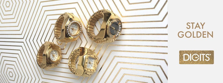 Gold Ring Watches by DIGITS