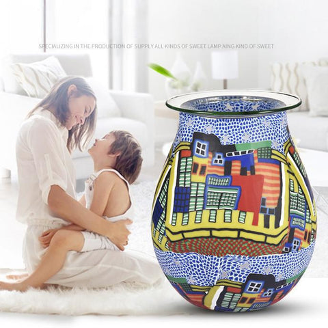 Electric Wax Melt Warmer- Blue House