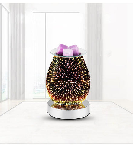 Electric Wax Melt Warmer - 3D Firework with Base
