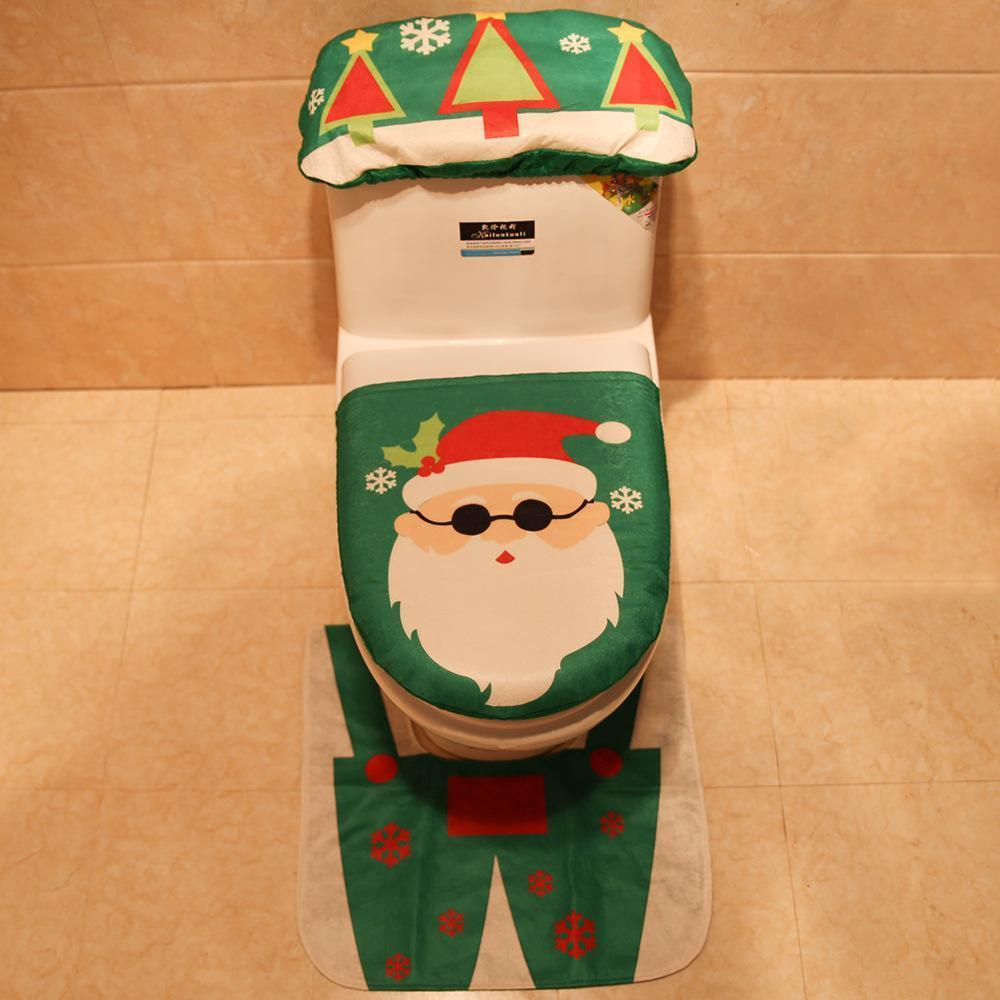 Christmas toilet cover