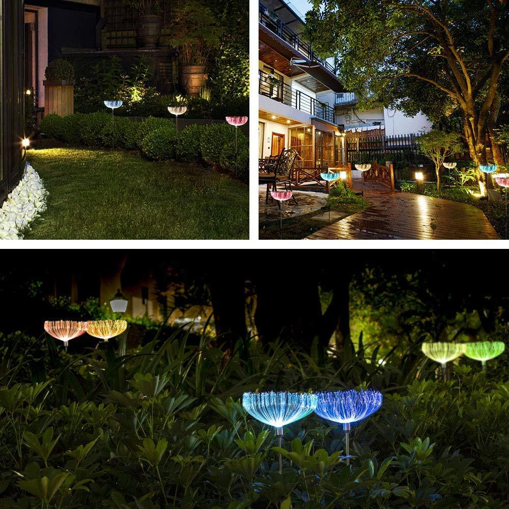 Solar-Powered Fiber Optic  Light - 2 Pcs