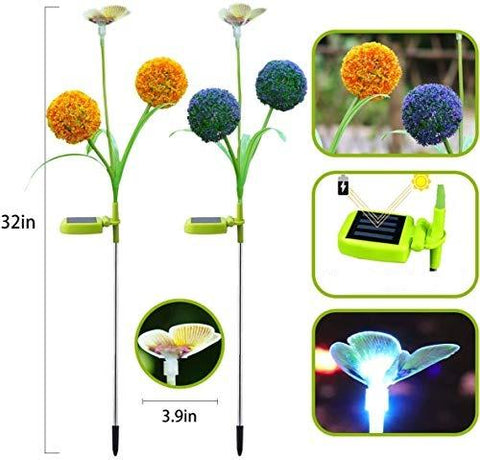LED Dandelion Butterfly Lights- 2Pcs