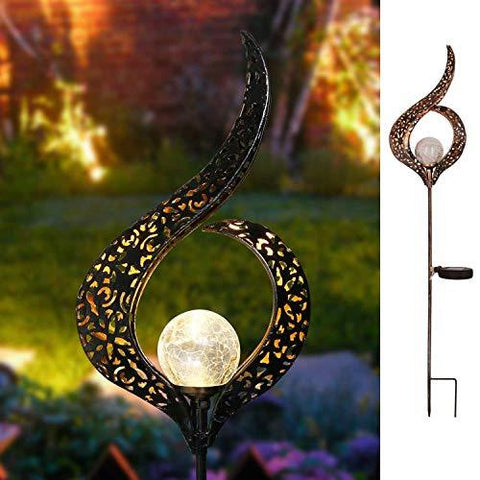 Solar Powered Crackle Garden Light