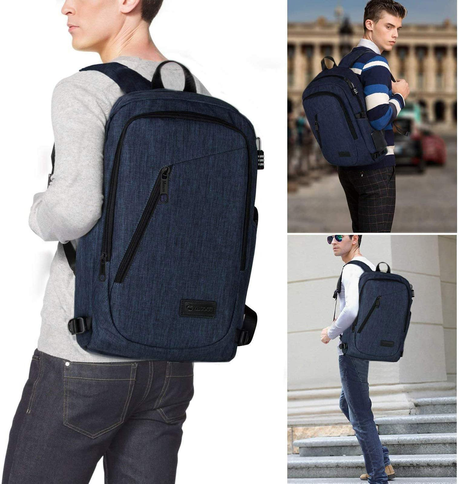 Business Water Resistant Anti Theft Laptops Backpack