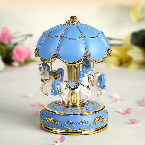 Flower Umbrella Carousel Music Box