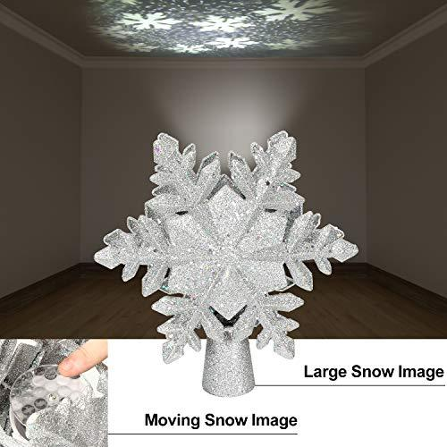 Christmas Tree Topper with Snowflake Projector