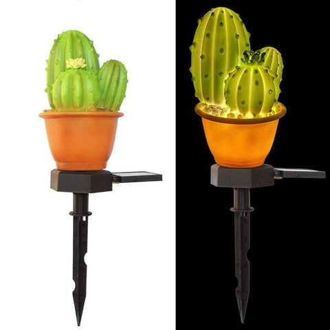 Solar-Powered Prickly Pear Light