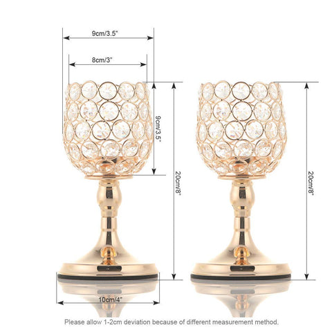 Crystal Candle Holders Set