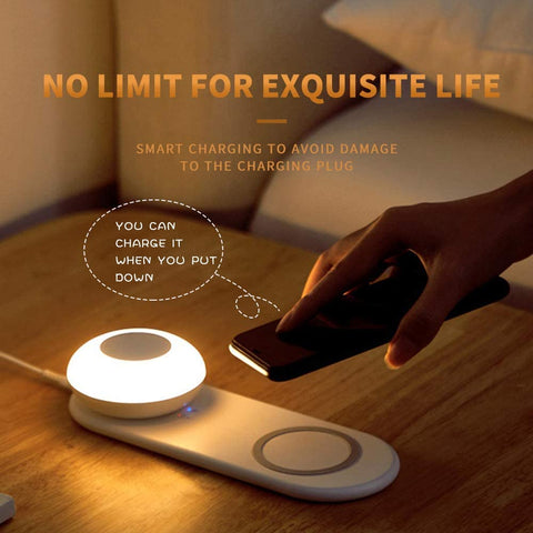 Wireless Phone Charger With  Night Light