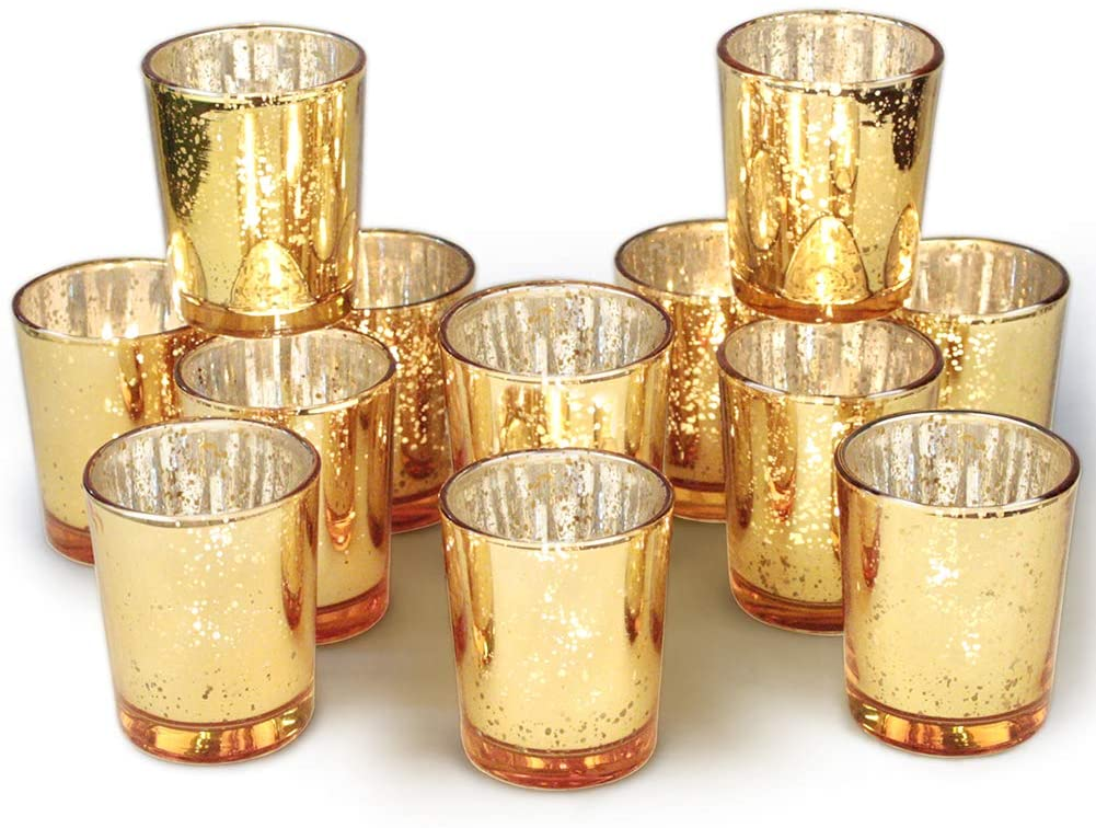 Decorative Votive Candle Holders - Set of 12