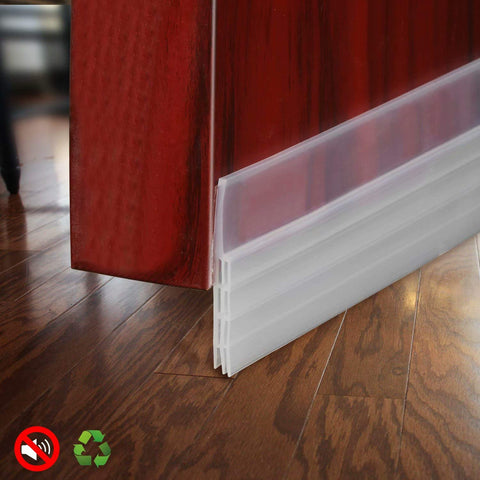 Door Draft Stopper Door Sweep for Exterior/Interior Doors