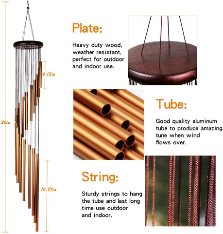Frosted Aluminum Tubes wind chimes