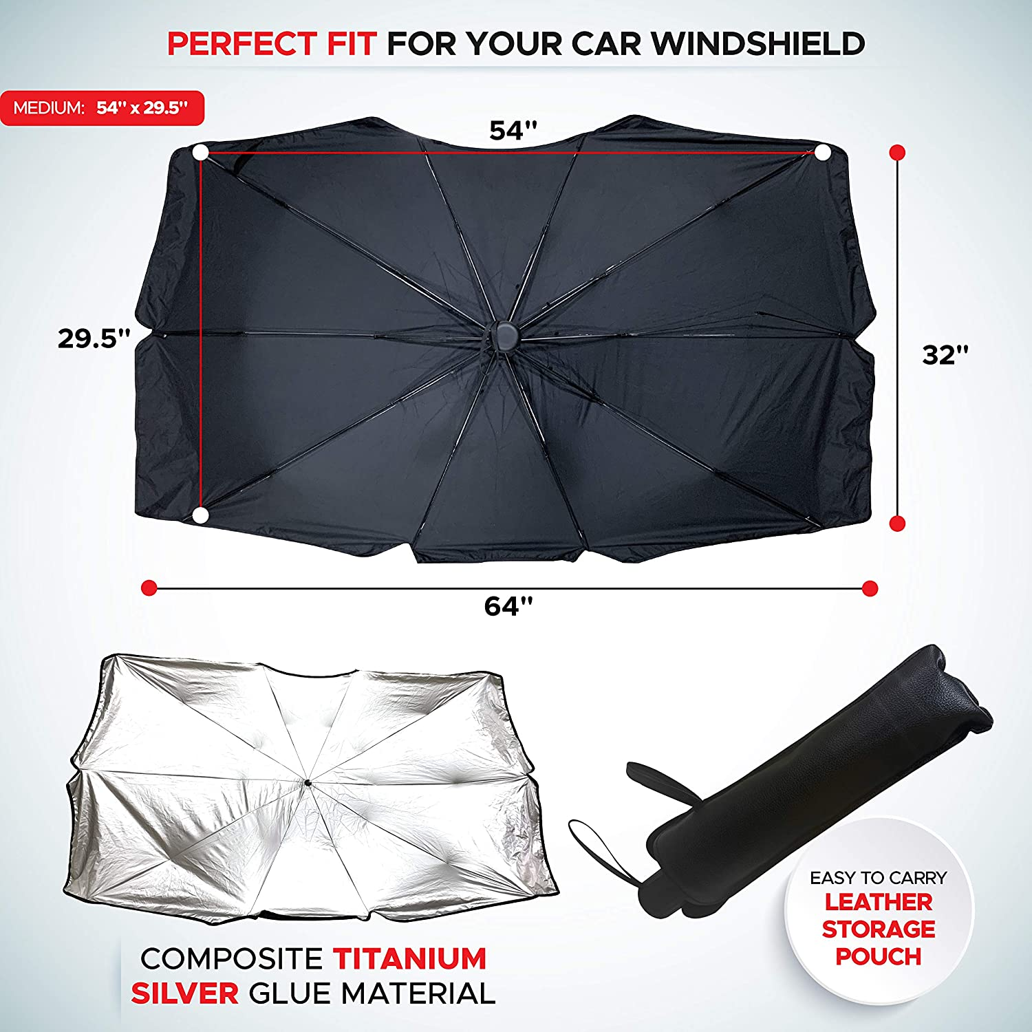Foldable Windshield Sun Shade Umbrella