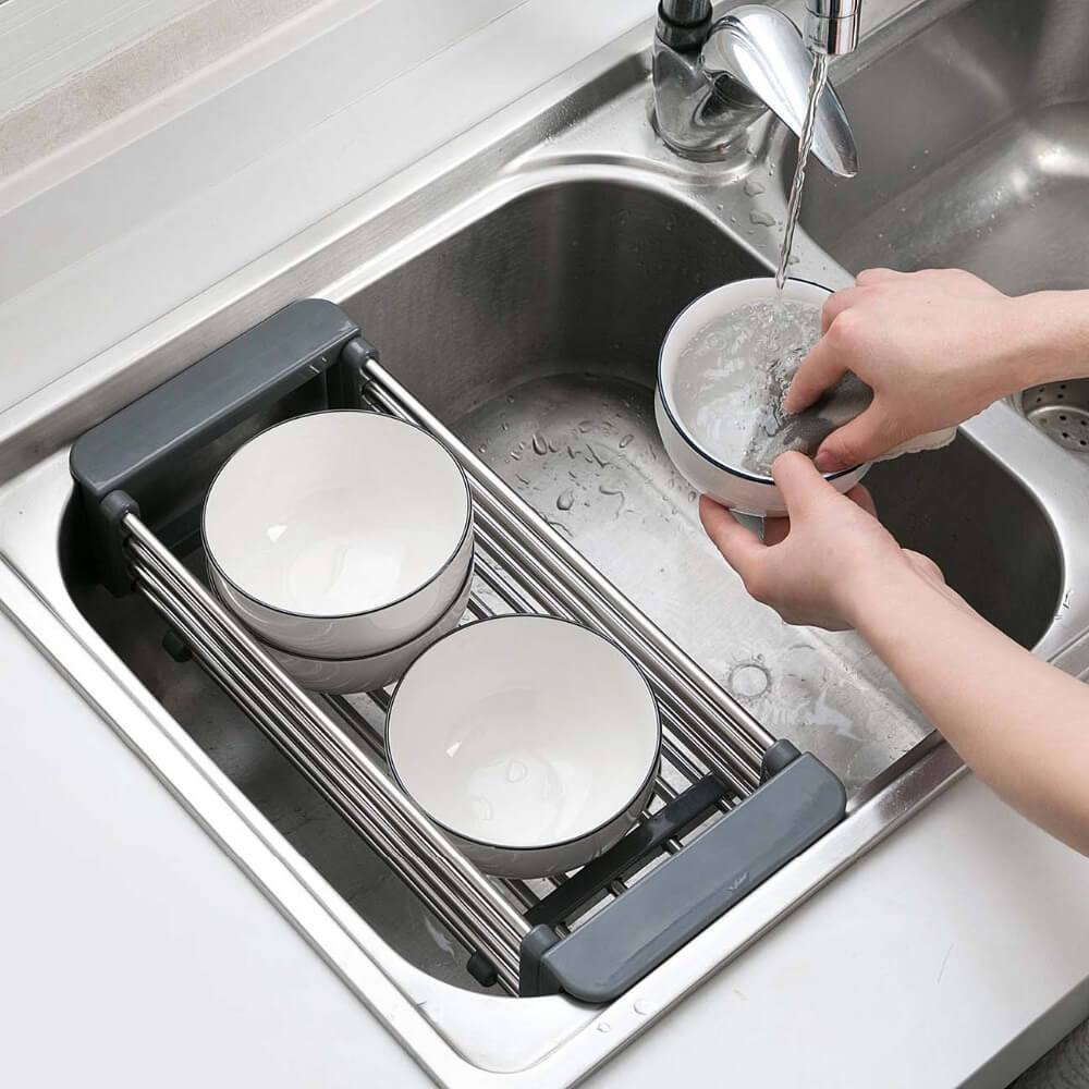 Extendable Sink Storage Rack