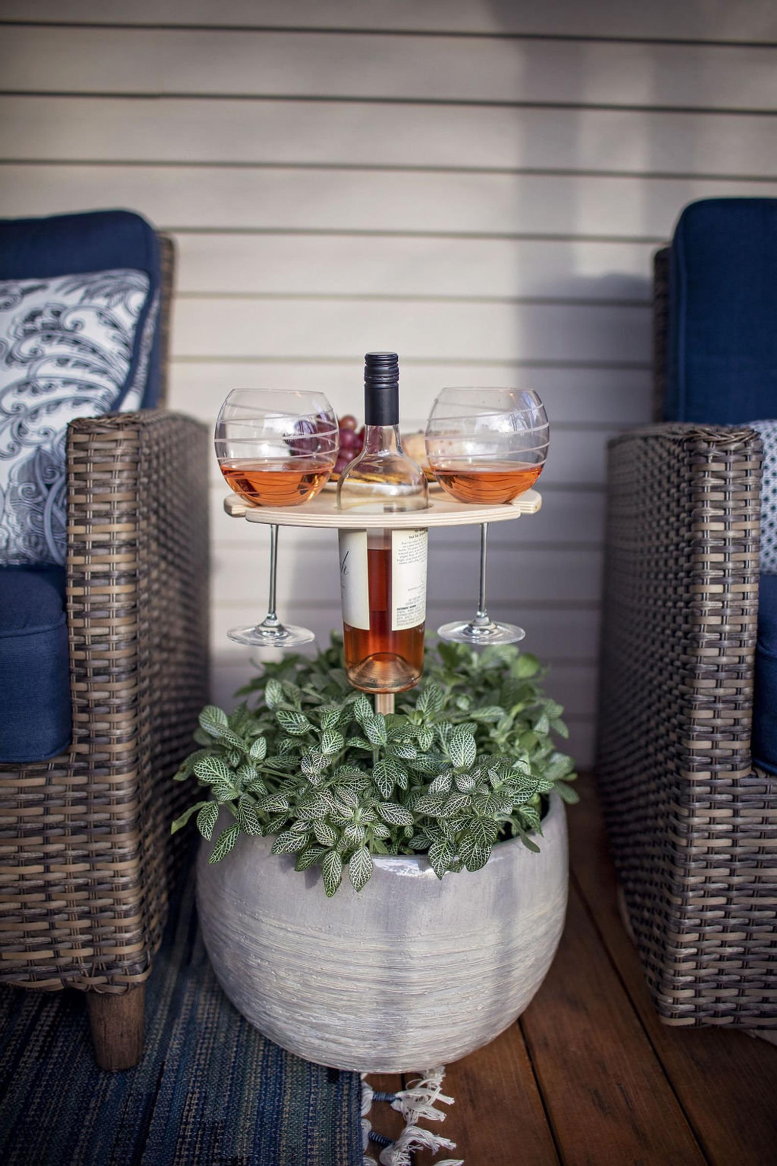 Folding Outdoor Wine Table