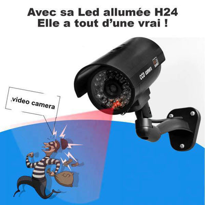 camera de surveillance exterieur factice led