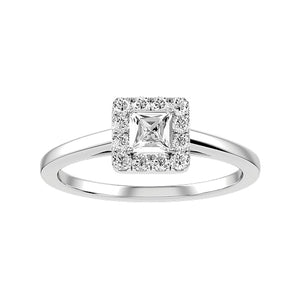 Engagement Princess White ring