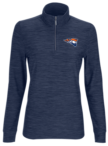 Greg Norman Ladies Play Dry® Heather 1/4-Zip Mock Neck