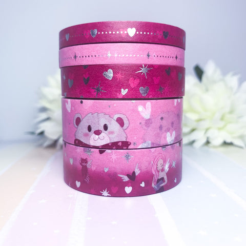 Jar of Hearts - Silver Foiled Washi Tape