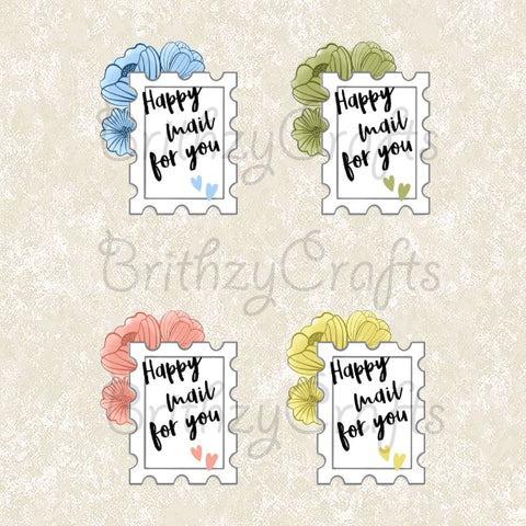 Happy mail for you floral stamps - Set of 28